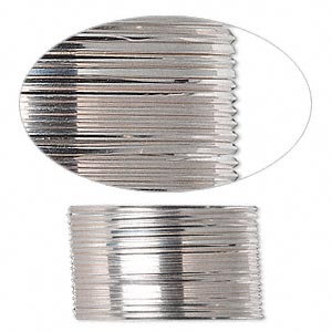 wire, sterling silver, full-hard, square, 21 gauge. sold per pkg of 5 feet.