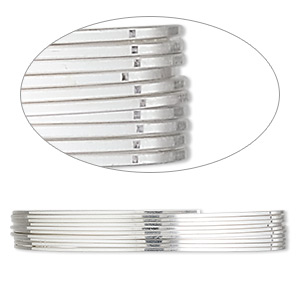 wire, sterling silver, full-hard, square, 22 gauge. sold per pkg of 5 feet.