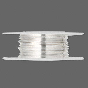 wire, sterling silver, half-hard, round, 22 gauge. sold per 25-foot spool.