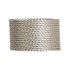 wire, sterling silver, half-hard, twisted square, 18 gauge. sold per pkg of 5 feet.