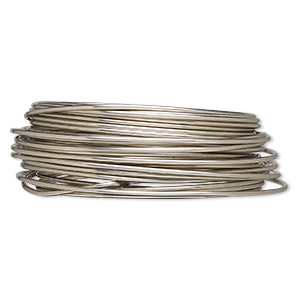 wire, wrapit, nickel silver, half-hard, round, 14 gauge. sold per 1/4 pound spool, approximately 19 feet.