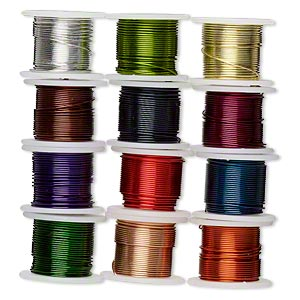wire, zebra wire™, copper and brass, assorted colors, round, 24 gauge. sold per pkg of (12) 5-yard spools.