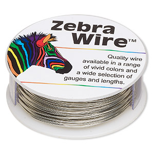 wire, zebra wire™, copper, silver color, round, 22 gauge. sold per 1/4 pound spool, approximately 45 yards.