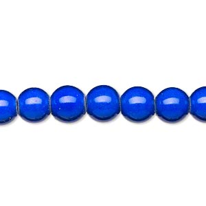 wonder bead, acrylic, blue, 8mm round. sold per 16-inch strand.