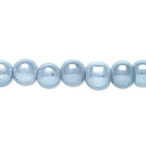 wonder bead, acrylic, light blue, 8mm round. sold per 16-inch strand.