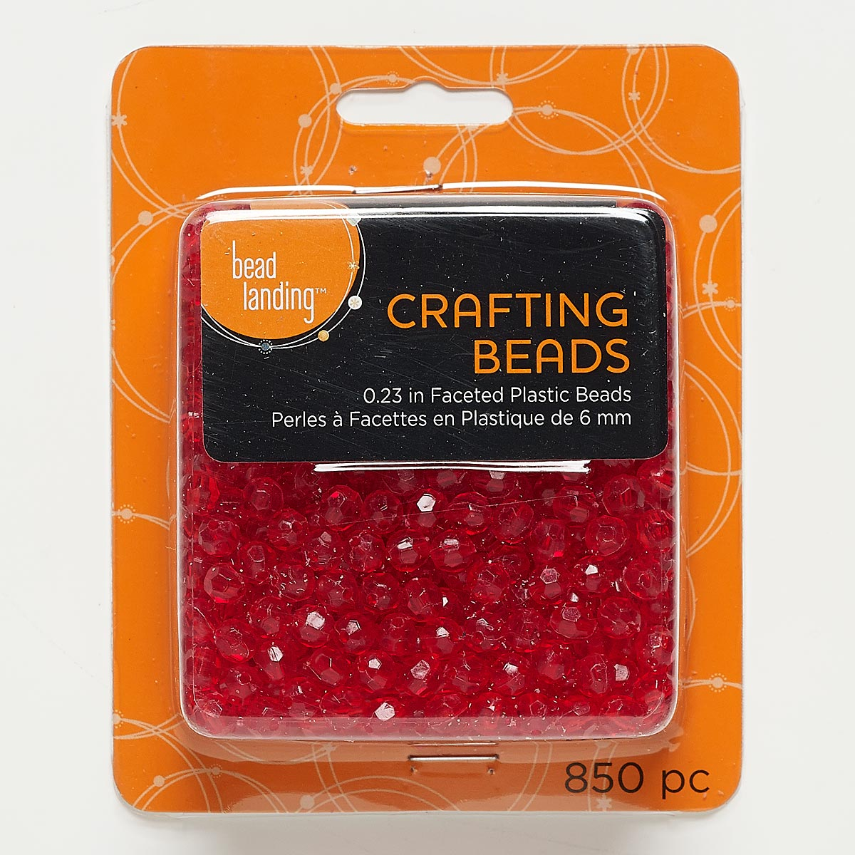 Bead landing crafting beads - Bead Acrylic Transparent Red 6mm Faceted Round Sold Per Pkg Of 850